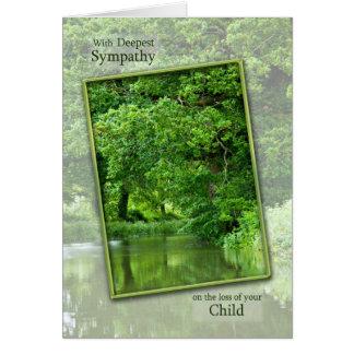 Cartes Perte de sympathie d'enfant, scène tranquille de