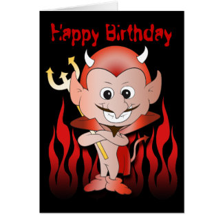 Cartes Petit anniversaire mignon de diable