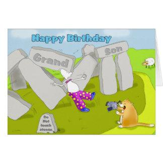 Cartes petit-fils d'anniversaire de stonehenge