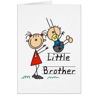Cartes Petit frère avec des T-shirts de grande soeur