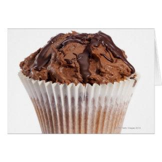Cartes Petit gâteau avec le glaçage de chocolat
