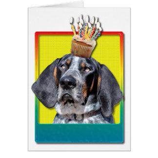 Cartes Petit gâteau d'anniversaire - Coonhound de