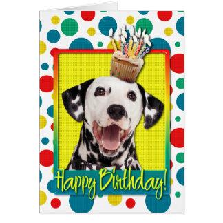 Cartes Petit gâteau d'anniversaire - Dalmate
