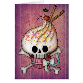 Cartes Petit gâteau doux de crâne