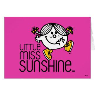 Cartes Petit graphique de Mlle Sunshine Walking On Name