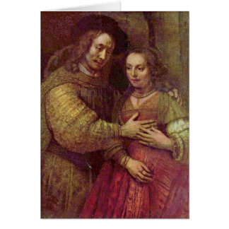 Cartes Petit groupe juif de jeune mariée par Rembrandt