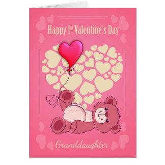 Cartes Petite-fille, d'abord ?ère Saint-Valentin avec