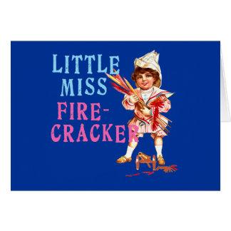 Cartes Petite Mlle Firecracker Vintage Americana