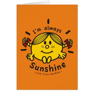 Cartes Petite Mlle Sunshine | je suis toujours soleil