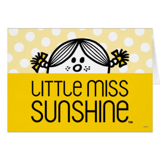 Cartes Petite Mlle Sunshine Peeking Over Name