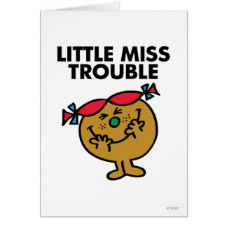 Cartes Petite Mlle Trouble | riant