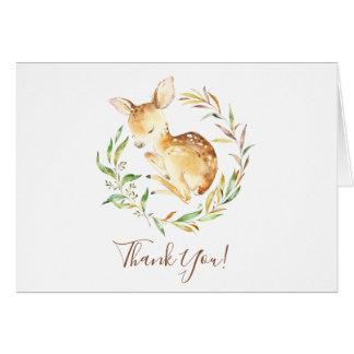 Cartes Petite note de Merci de baby shower de cerfs