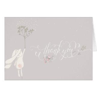 Cartes Petite note de Merci de baby shower de lapin