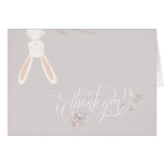 Cartes Petite note II de Merci de baby shower de lapin