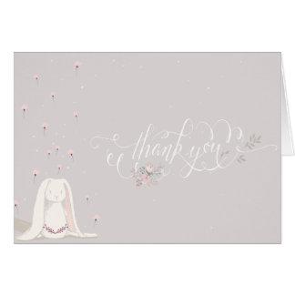 Cartes Petite note III de Merci de baby shower de lapin
