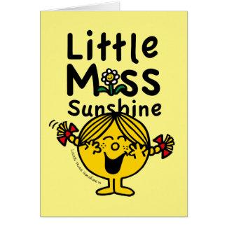Cartes Petite petite Mlle Sunshine Laughs de la Mlle |