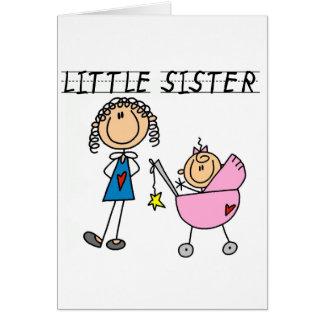 Cartes Petite soeur avec de grands T-shirts de SIS