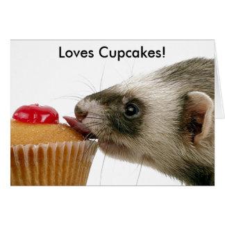 Cartes Petits gâteaux d'amour de furets