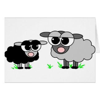 Cartes Petits moutons noirs mignons et moutons de BigGray
