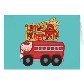 Cartes Petits T-shirts et cadeaux de pompier de moteur