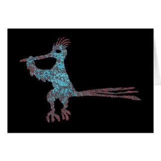 Cartes Pétroglyphe, coucou terrestre du Nouveau Mexique