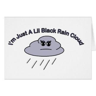 Cartes Peu de nuage de pluie noir