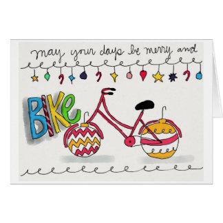 Cartes Peuvent vos jours être joyeux et vélo