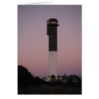 Cartes Phare de l'île de Sullivan au coucher du soleil