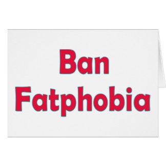 Cartes Phobie de graisse d'interdiction