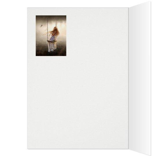 Cartes photo bohême romantique balançoire jeune fille