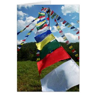 Cartes Photo bouddhiste colorée de Polonais de drapeaux