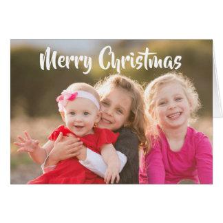 Cartes Photo de famille de Joyeux Noël