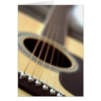 Cartes Photo de plan rapproché de guitare acoustique