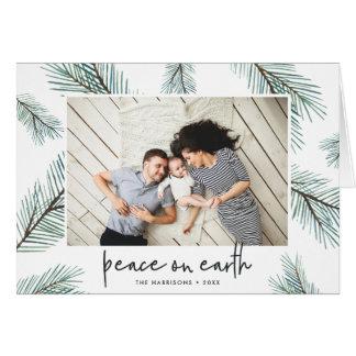 Cartes Photo de vacances des branches | de pin pliée