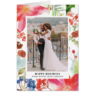 Cartes Photo florale de vacances des poinsettias |