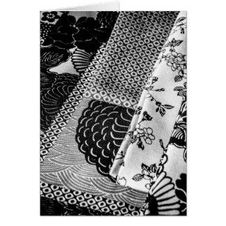 Cartes Photo japonaise de textiles en noir et blanc