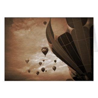 Cartes Photographie chaude de cru de ballon à air