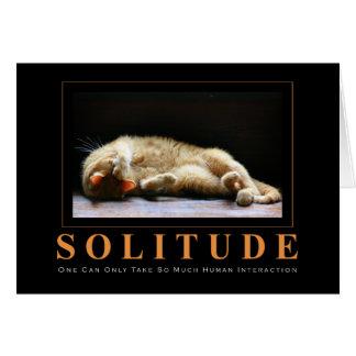 Cartes Photographie de chat de SOLITUDE Anti-De