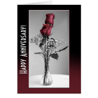 Cartes Photographie éclaboussée par couleur de deux roses