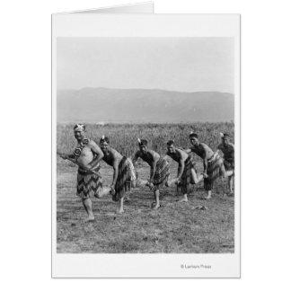 Cartes Photographie maorie de danse de guerre
