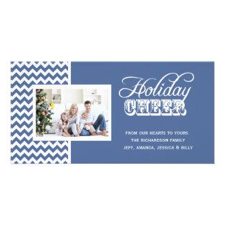 Cartes photos bleus d'acclamation de vacances de C Cartes De Vœux Avec Photo
