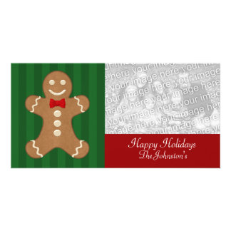 Cartes photos de biscuit de bonhomme en pain d'épi modèle pour photocarte