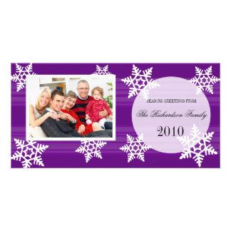 Cartes photos de fête de famille de vacances cartes avec photo