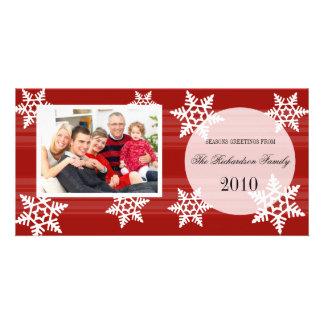 Cartes photos de fête de famille de vacances d'aut cartes de vœux avec photo