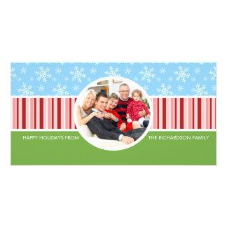 Cartes photos de fête de famille de vacances d'aut photocarte customisée