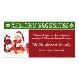 Cartes photos de fête de vacances de Noël Cartes Avec Photo