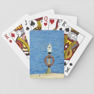 Cartes photos de l'eau de volière de vacances cartes à jouer