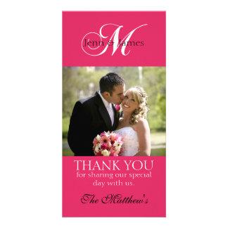 Cartes photos de Merci de mariage du monogramme M Cartes De Vœux Avec Photo