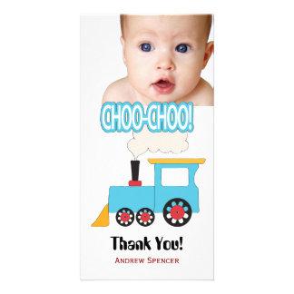 Cartes photos de Merci de train de Choo Choo Photocarte Customisée