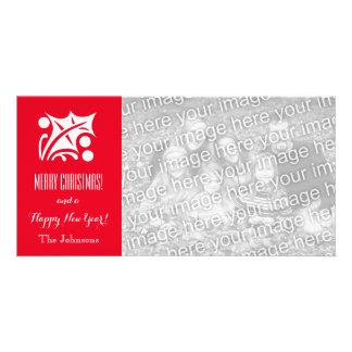Cartes photos de Noël avec la salutation faite sur Carte Avec Photo